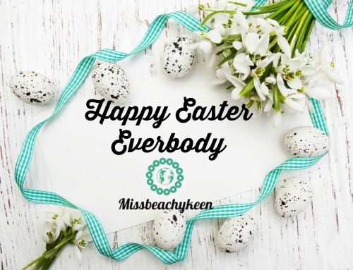 Easter background with snowdrops, eggs and ribbon